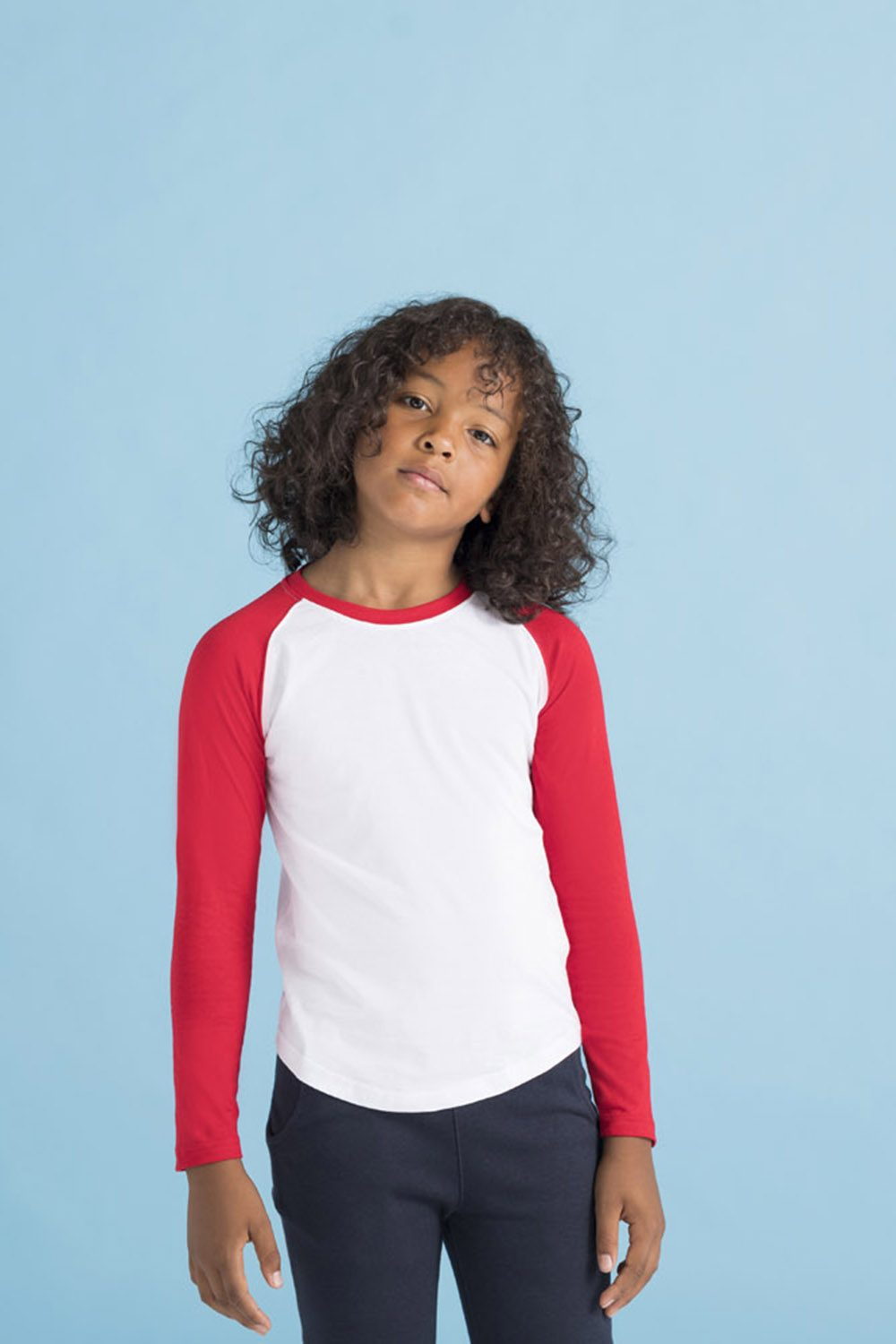 6acba7c7 SM271 KIDS' LONG SLEEVED BASEBALL T – Skinnifit