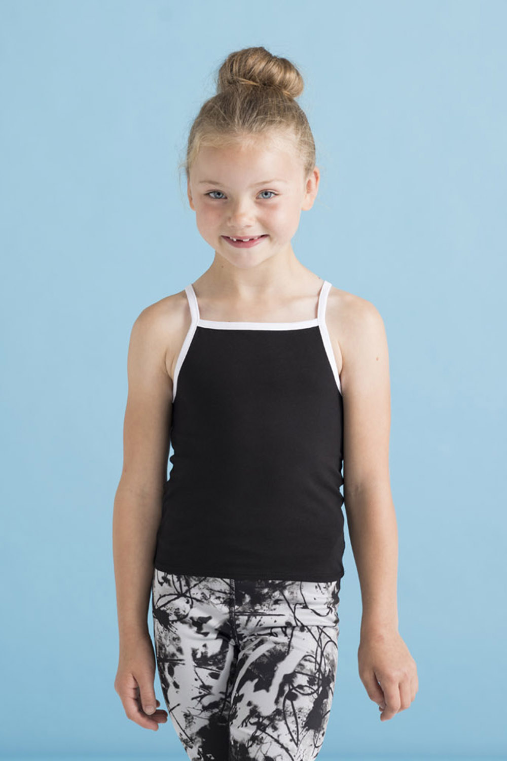 5c72991e SM127 KIDS' FEEL GOOD STRETCH CONTRAST STRAPPY VEST